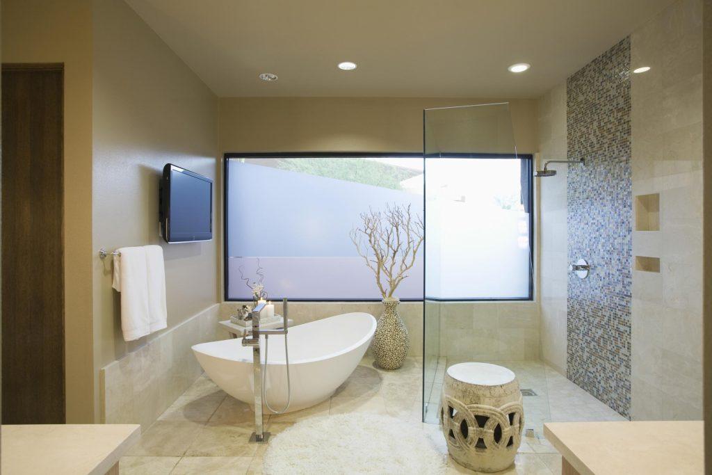 a modern design bathroom
