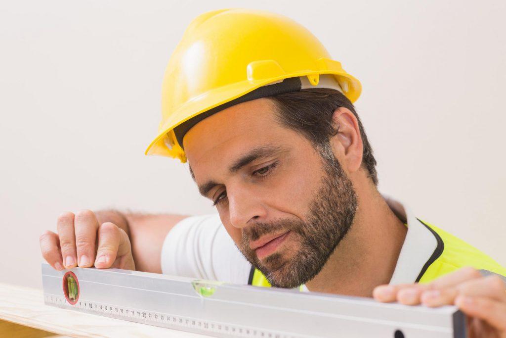 worker wearing yellow hardhat