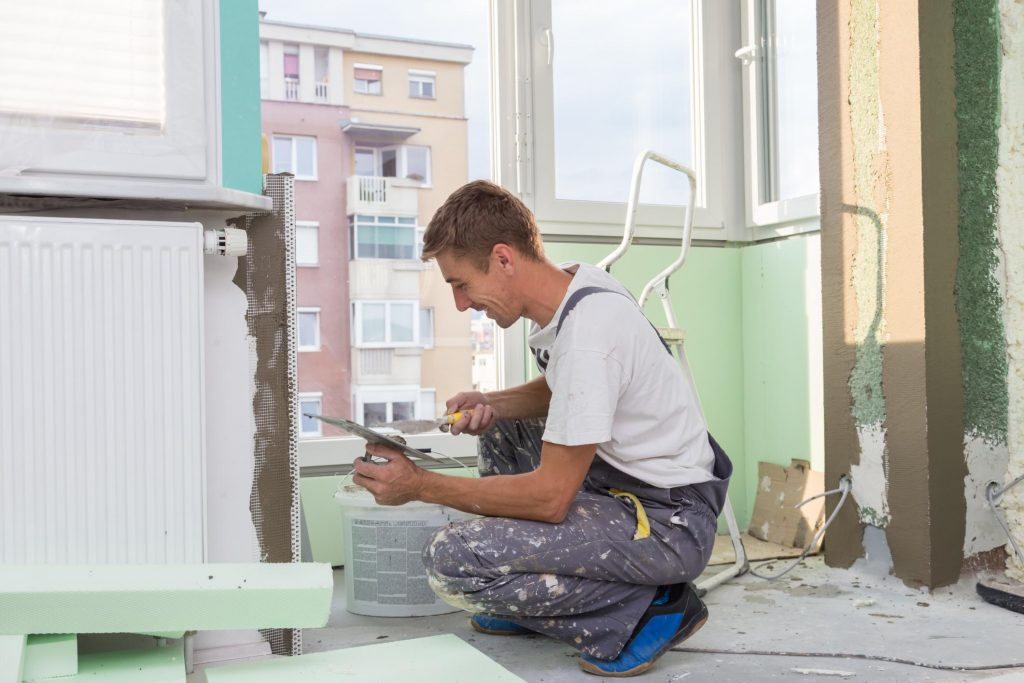 man doing a drywall